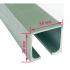 Профиль раздвижной системы EKF ECO 120101-02 до 80 кг 2 метра