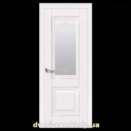 Дверное полотно Имидж белый матовый со стеклом