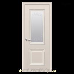 Дверное полотно Имидж капучино со стеклом