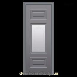 Дверное полотно Шарм антрацит со стеклом