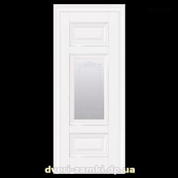 Дверное полотно Шарм белый матовый со стеклом