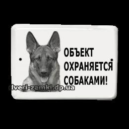 "Табличка ""Объект охраняется собаками"" 72"