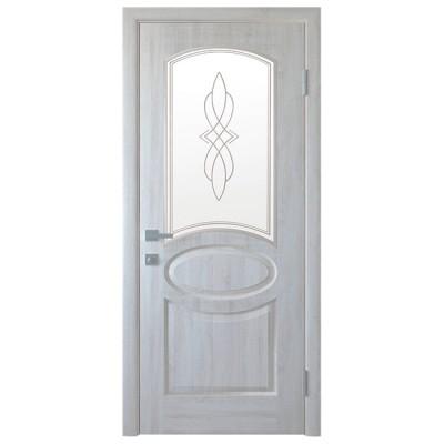 Дверное полотно Фортис Овал Р1 ясень NEW