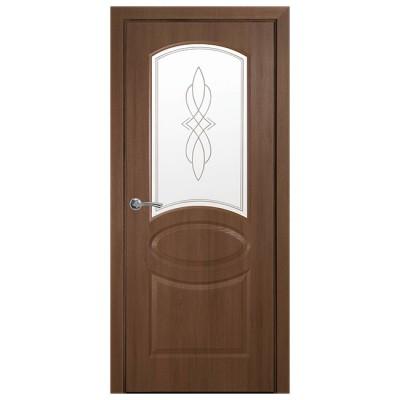 Дверное полотно Фортис Овал Р1 золотая ольха