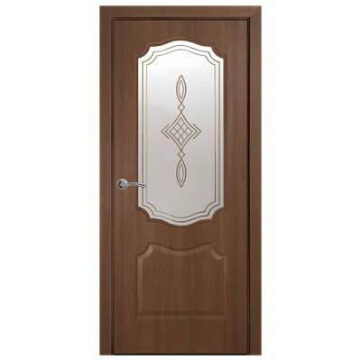 Дверное полотно Фортис V (вензель) золотая ольха R1