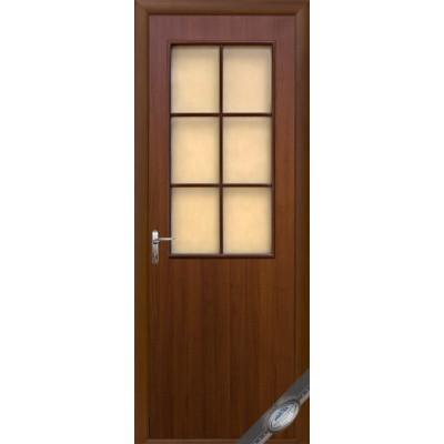 Дверь со стеклом Колори B орех
