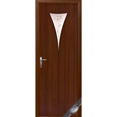 Дверное полотно Бора орех Р1