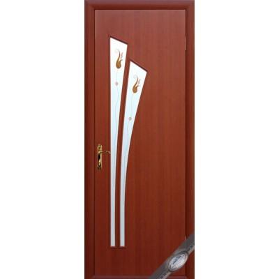 Дверное полотно Лилия вишня