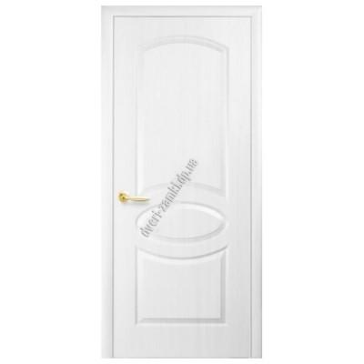 Дверь глухая МДФ овал белая