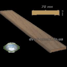Наличник 70x8 ПВХ Ultra дуб медовый