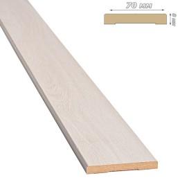 Наличник МДФ 70x8 мм дуб жемчужный прямоугольный