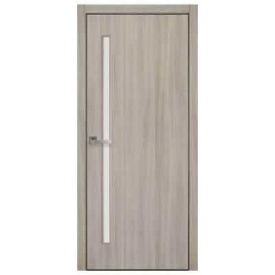 Дверное полотно Глория ясень патина экошпон