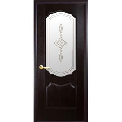 Дверное полотно Фортис V (вензель) венге R1