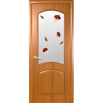 Межкомнатная дверь Интера Аве цвет ольха ПВХ