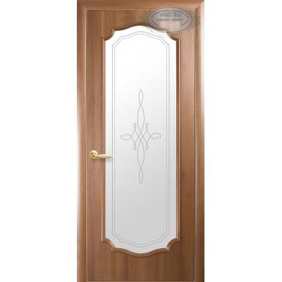 Дверное полотно Рока золотая ольха витраж