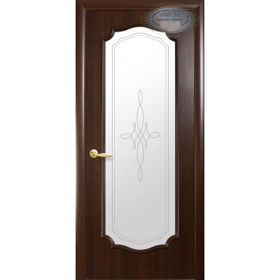 Дверное полотно Рока каштан витраж