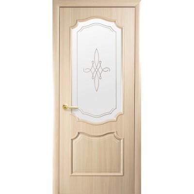 Дверное полотно Рока ясень со стеклом