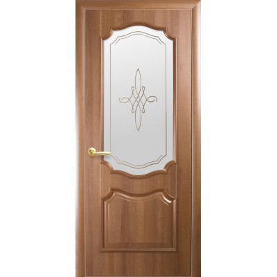 Дверное полотно Рока золотая ольха со стеклом