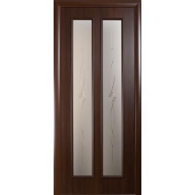 Дверное полотно Стелла каштан со стеклом