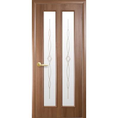 Дверное полотно Стелла золотая ольха со стеклом