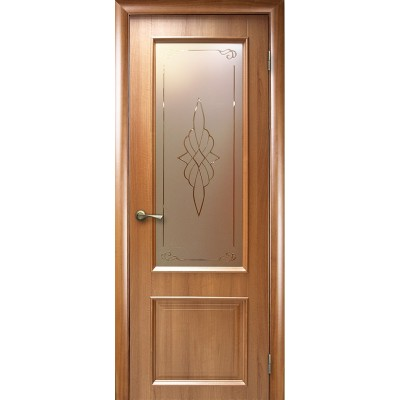 Дверное полотно Вилла со стеклом золотая ольха