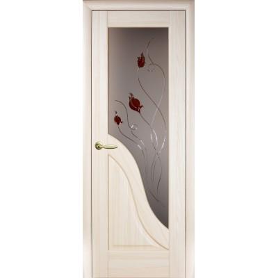 Двери Амата Р1 ясень ПО Делюкс
