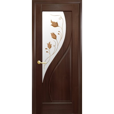 Дверное полотно Прима Р1 каштан