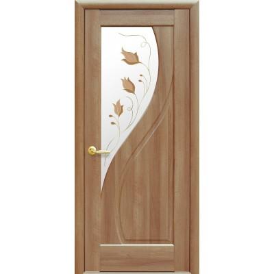 Дверь Прима Р1 золотая ольха коллекция Маэстра ТМ Новый стиль
