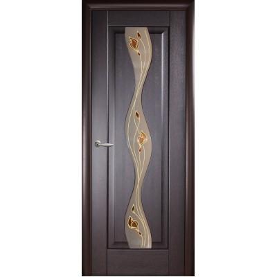Дверное полотно Волна венге Р1