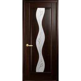 Дверное полотно Волна венге Р