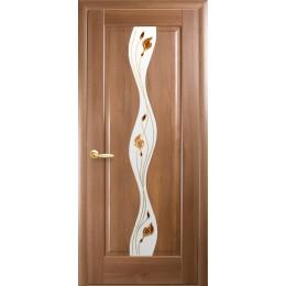 Дверное полотно Волна золотая ольха Р