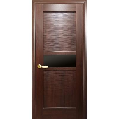 Дверное полотно Рифма BLK Новый стиль цвет каштан