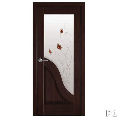 Межкомнатные двери Новый стиль Амата каштан ПО