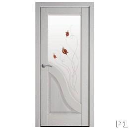 Дверное полотно Амата патина серая