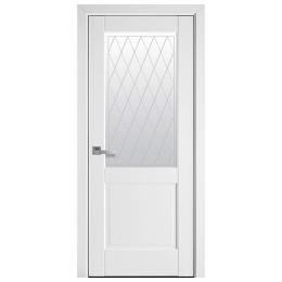 Дверное полотно Эпика Р2 белый матовый