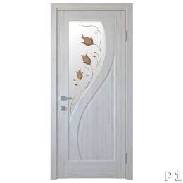 Дверное полотно Прима Р1 ясень new