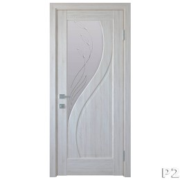Дверное полотно Прима Р2 ясень