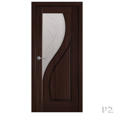 Дверное полотно Прима Р2 каштан