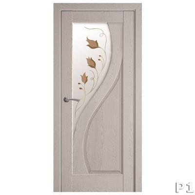 Дверное полотно Прима Р1 патина серая
