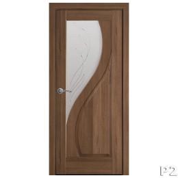 Дверное полотно Прима Р2 золотая ольха