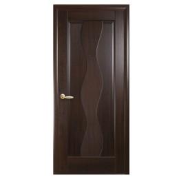 Дверное полотно Волна каштан
