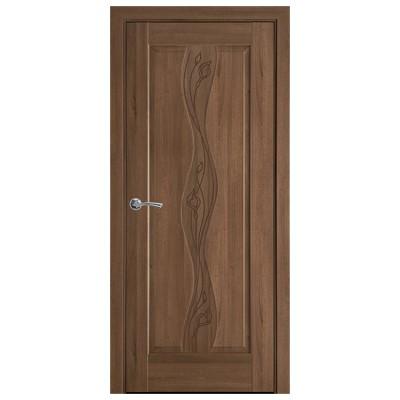 Дверное полотно ВОЛНА  золотая ольха коллекция Маэстра