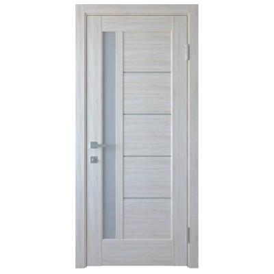 Дверное полотно Грета ясень NEW стекло сатин