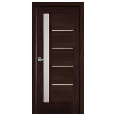 Дверное полотно Грета каштан стекло сатин