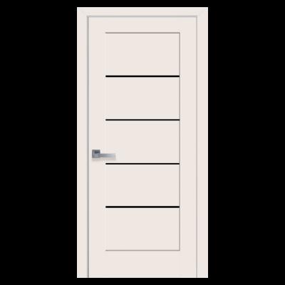 Дверное полотно Мира BLK Магнолия черное стекло