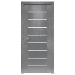 Дверное полотно Парма X-серый стекло сатин