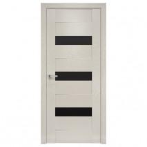 Дверное полотно Вена BLK X-беж черное стекло