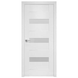 Дверное полотно Вена X-белый стекло сатин