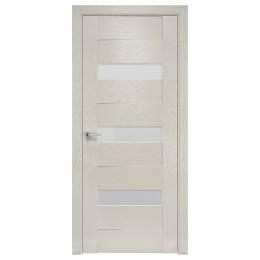 Дверное полотно Вена X-беж со стеклом сатин