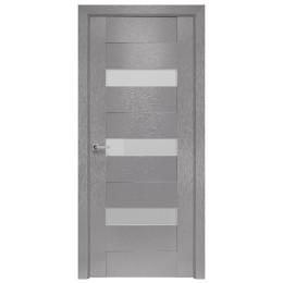 Дверное полотно Вена X-хром стекло сатин